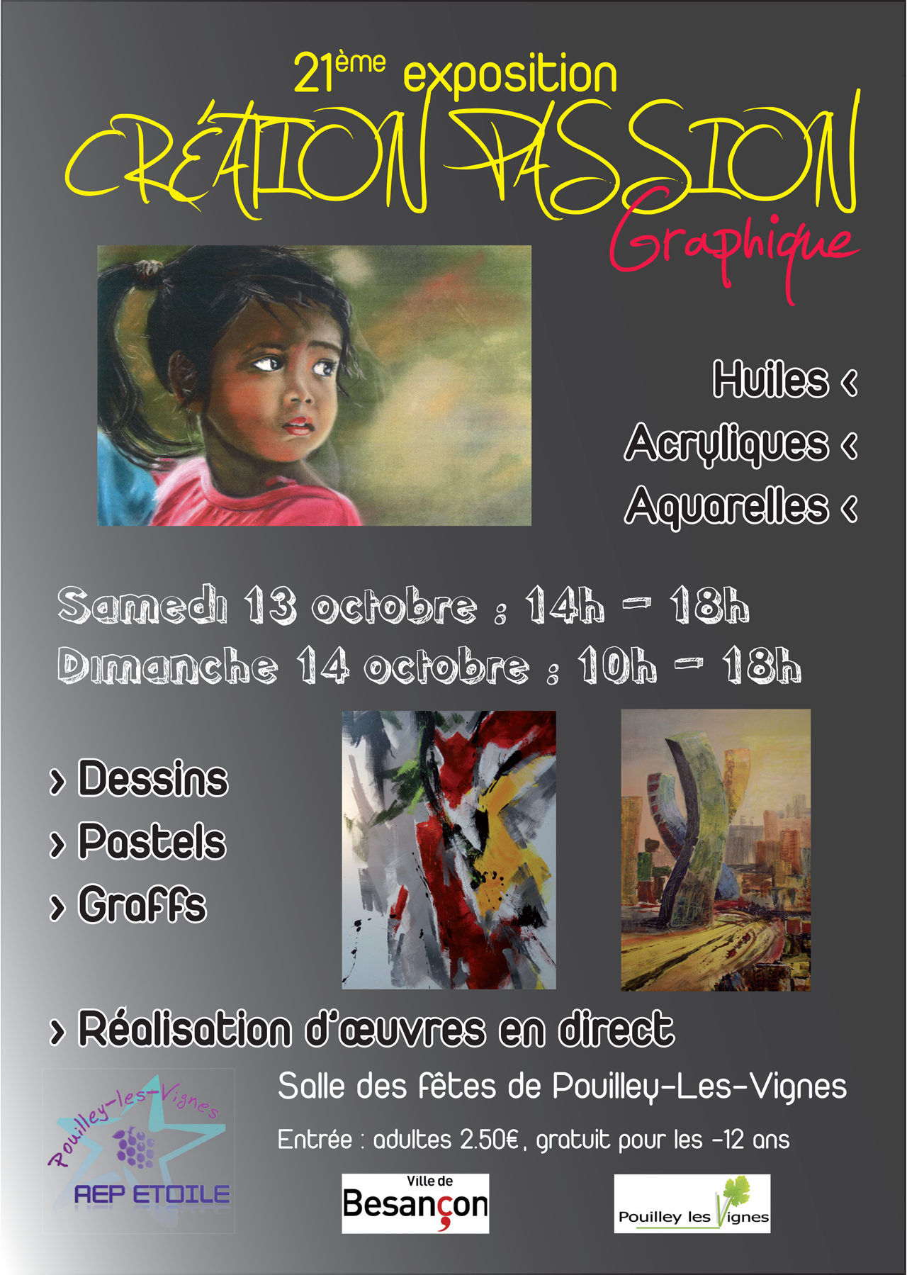 2012-09 - Affiche exposition Creation Passion Graphique