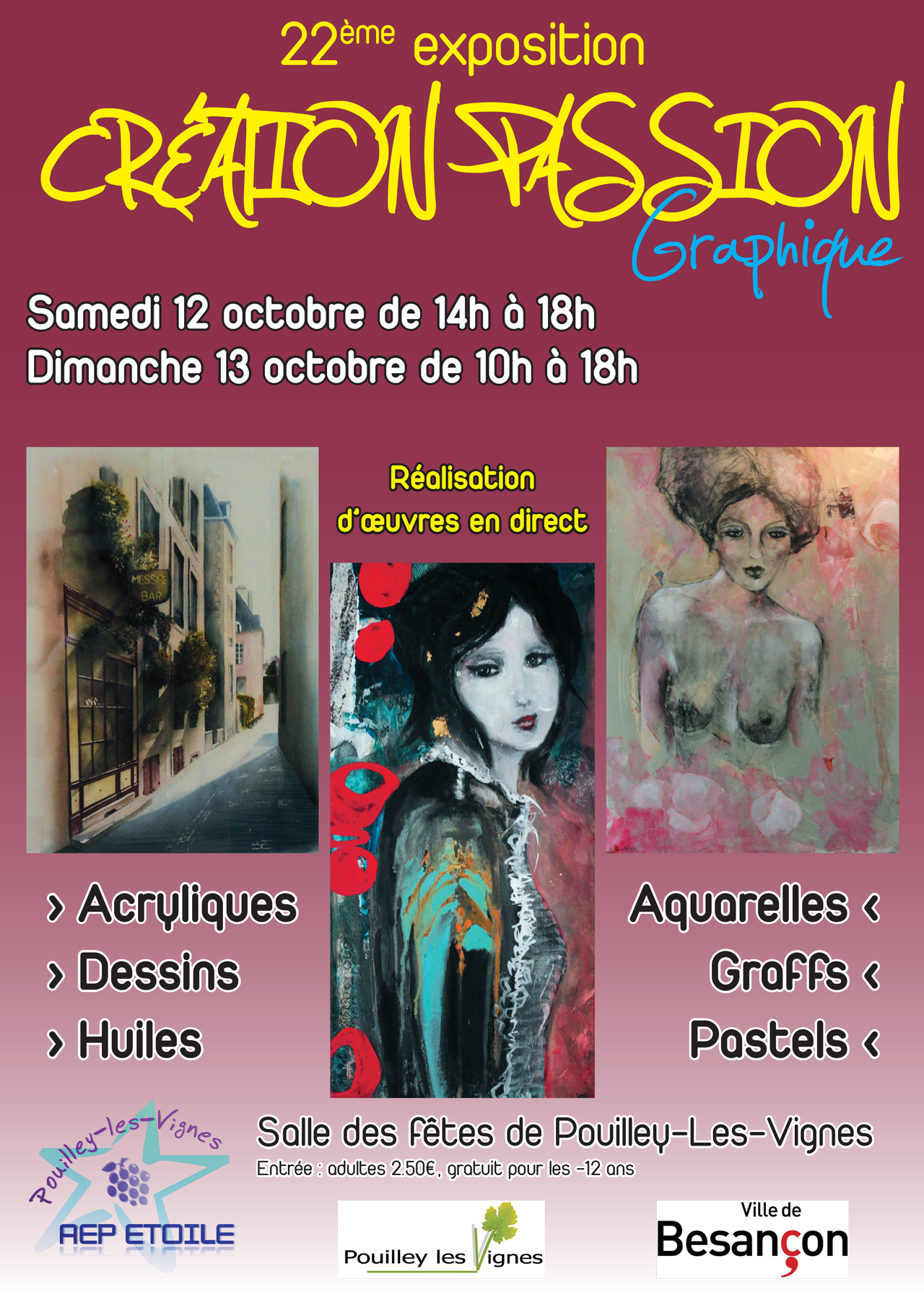 2013-09 - Affiche exposition Creation Passion Graphique