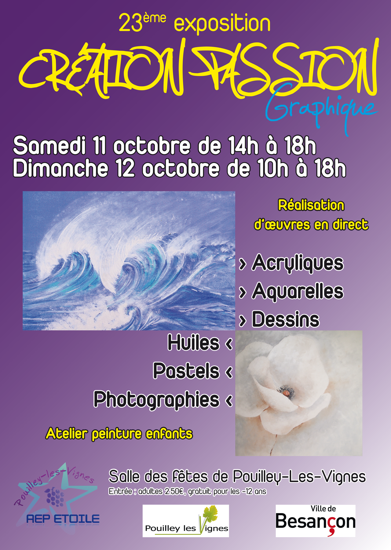 2014-09 - Affiche exposition Creation Passion Graphique