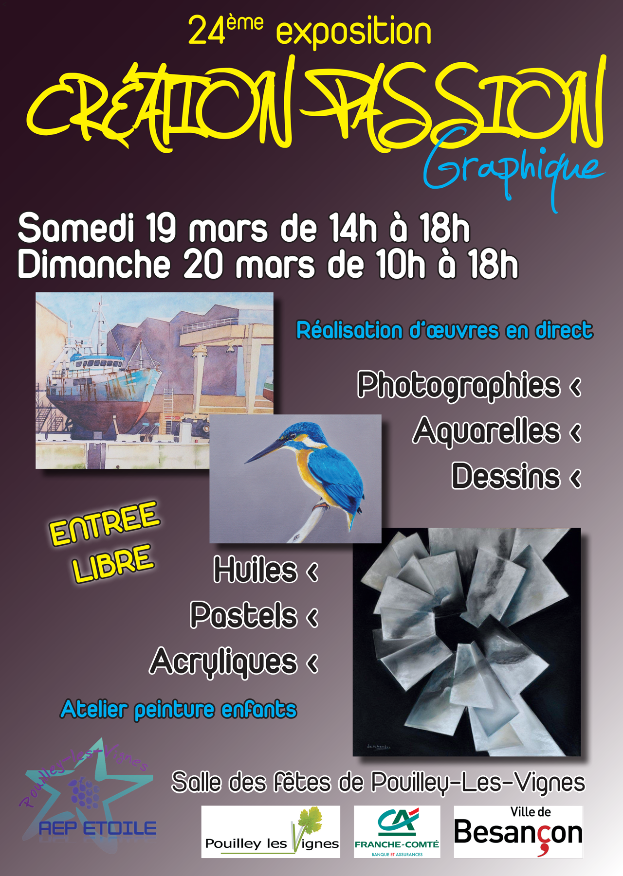 2016-02 - Affiche exposition Creation Passion Graphique
